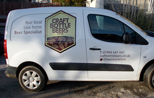 Craft bottle beer _ Delivery van